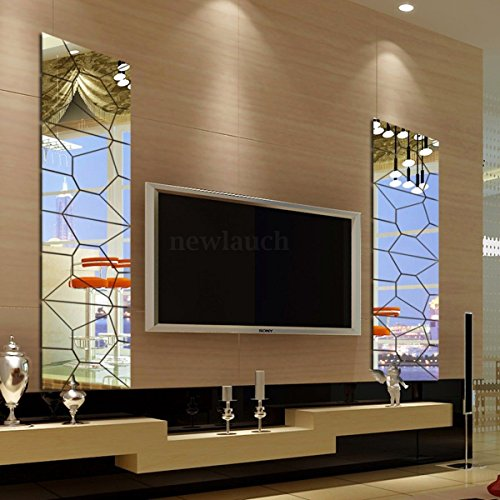 7pcs 3D Acrylic Modern Mirror Decal Art Mural Wall Sticker Home Decor Removable