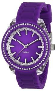 Esprit - ES900672006 - Play Glam - Montre Femme - Quartz Analogique - Cadran Violet - Bracelet Silicone Violet