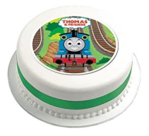 Thomas Tank Engine Cake Decoration Kit : Thomas The Tank Engine Sugar Cake Topper Plaque 114mm ...