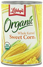 Libby\'s Organic Whole Kernel Sweet Corn, 15-Ounce  Cans (Pack of 12)