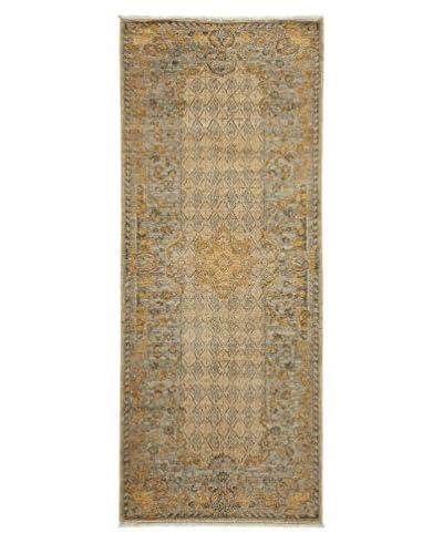 Darya Rugs Fine Modern Oriental Rug, Sand, 3' 2 x 7' 10 Runner