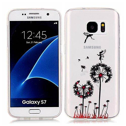 MIQLT Galaxy S7 Galaxy S7 Transparent Coque, slim Bumper en silicone protection en TPU Cristal transparent coque silicone gel pour Samsung Galaxy S7
