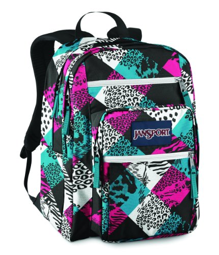 JanSport Big Student School Backpack (White/Black Charming Check)