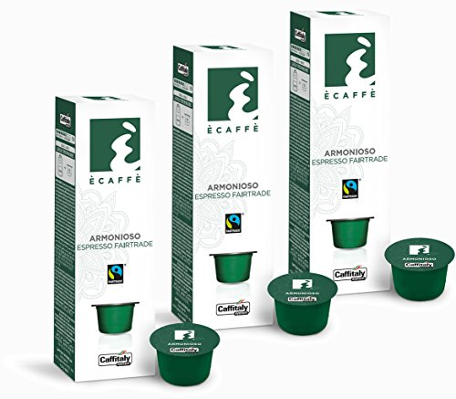 Purchase 30 Ècaffè Fairtrade Capsules Espresso Solidale ARMONIOSO from Caffitaly System