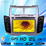Car Dvd Gps Navigation Radio Video Bluetooth for Toyota Yaris 2005-2011