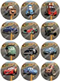 Cakeshop 12 x PRE-CUT Disney Pixar Cars Edible Cake Toppers