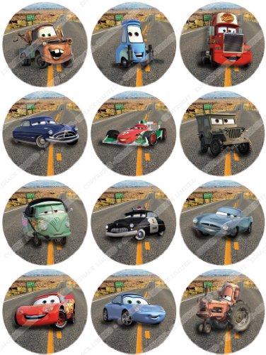 Cakeshop 12 x vorgeschnittene und essbare disney pixar for Cars kuchendeko