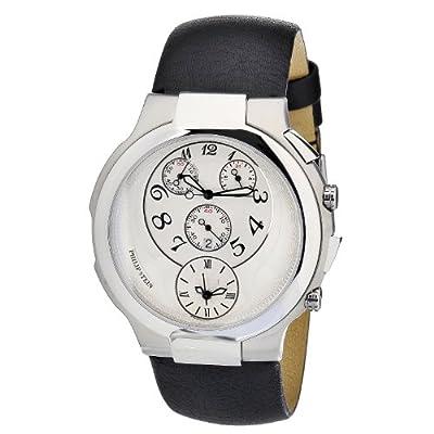 Philip Stein Women's 9-CRW3-CB Quartz Analog Dual Time Chronograph Watch by Philip Stein
