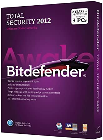 Bitdefender Total Security 2012 Value M1 3Pc/2 Years