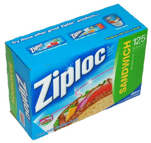 Ziploc Sandwich Bags - 125-Count