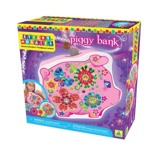 The Orb Factory Sticky Mosaics Piggy Bank