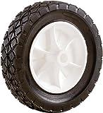Shepherd Hardware 9610 6-Inch Semi-Pneumatic Rubber Replacement Tire, Plastic Wheel, 1-1/2-Inch Diamond Tread