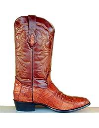 Corral Mens Cowboy Boots Cognac Patchwork Caiman Gator