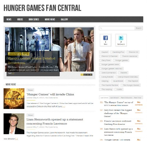Hunger Fans: Fan Central for Hunger Games Movies and Books