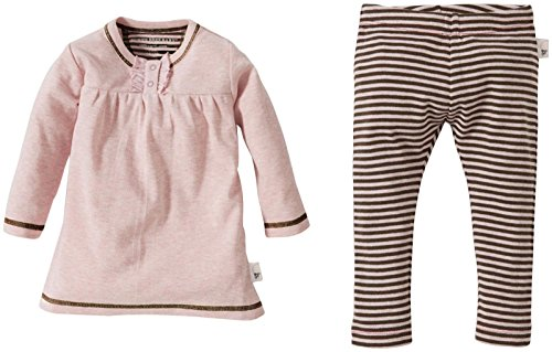 Burt'S Bees Baby Baby Girls' Classic Stripe Leggings Set (Baby) - Blossom - 0-3 Months front-914830