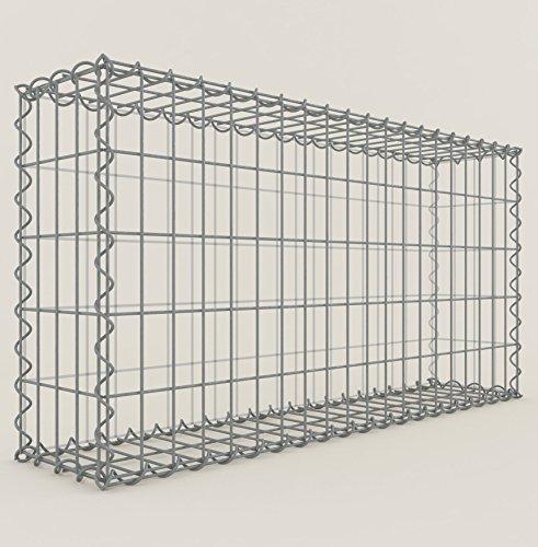 steinkorb gabione 100 x 50 x 20 cm eckig maschenweite 5 x 10 cm galvanisch verzinkt. Black Bedroom Furniture Sets. Home Design Ideas