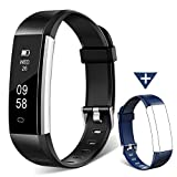 Fitness Tracker Watch, Homogo H2 Fitness Watch Activity Tracker with Sleep Monitor, Smart Pedometer for Step Distance Calories Track (Black+Blue Band) ¡­