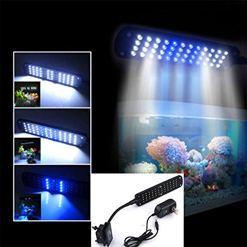 48 led 2 mode fish tank aquarium plant grow clip white. Black Bedroom Furniture Sets. Home Design Ideas