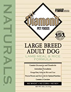 Diamond Naturals Dry Food for Adult Dogs, Large Breed 60+ Lamb and Rice Formula, 40 Pound Bag