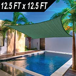 12 x 12' FT Feet Square UV Heavy Duty Sun Shade Sail Patio Cover Green Canopy