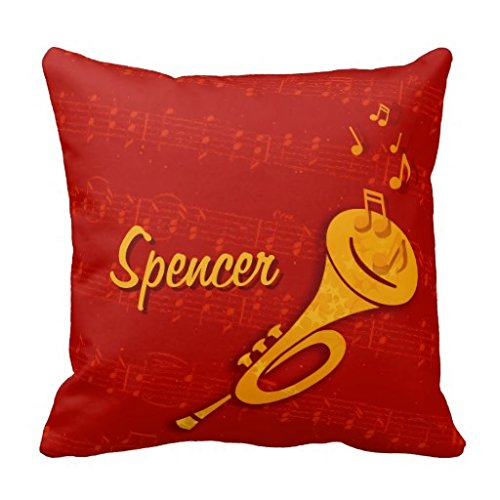 Brass Instrument Personalized Name Pillow Case