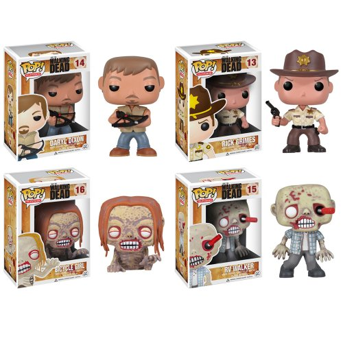 The Walking Dead POP! Vinyl Set of 4
