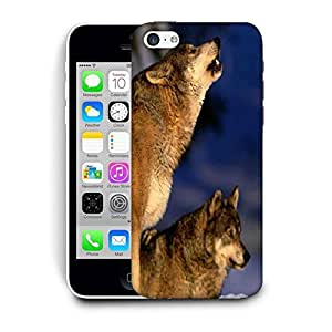 Snoogg Dog Roaring Printed Protective Phone Back Case Cover For Apple Iphone 5C