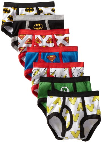 Handcraft Little Boys' 5-Pack Justice League Logo Brief, Assorted, 4 front-1029329