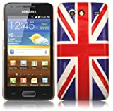 IMD Union Jack Hard Back Case For Samsung Galaxy S Advance I9070 With 2 Screen Protectors
