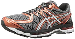 ASICS Men's Gel-Kayano 20 Running Shoe,Storm/White/Rust,9.5 M US