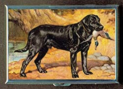 Black Lab Labrador Retriever Stainless Steel ID or Cigarettes Case (King Size or 100mm)