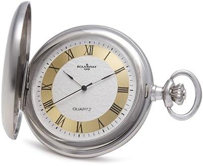 Bouverat 1919 Pocket Watch BV821201 Rhodium Plated Full Hunter