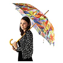 April Showers Auto Open Umbrella Collection, Bird of Paradise Print