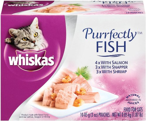 Whiskas Purrfectly Fish Variety Pack (4- Salmon,