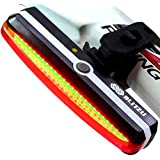 ULTRA BRIGHT Bike Light Blitzu Cyborg 168T USB Rechargeable Tail Light. RED High Intensity Rear LED Accessories Fits on any Bicycles, Helmets, Waterproof. Easy To install for Cycling Safety Flashlight