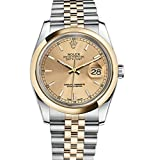 Rolex Datejust 36 Steel Yellow Gold Watch Champagne Dial 116203