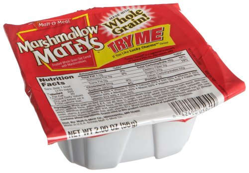 Malt-O-Meal Marshmallow Mateys Cereal, 2-Ounce Single Serve Bowls (Pack Of 48)