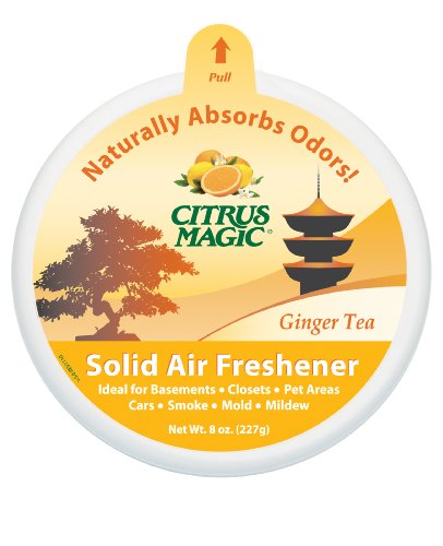 Citrus Magic Solid Air Freshener, Ginger Tea, 8-Ounce