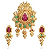 Violet and Purple Alloy Gold Plated Pendant Set for Women (1000031204)