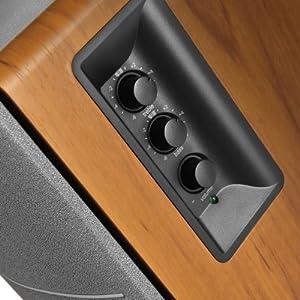Edifier Studio 1280T - loudspeakers (Tabletop/bookshelf, Studio, 2-way, Grey, Wood, Wood, Wired)