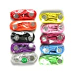 Pack of Ten Colorful Earphones Headph...