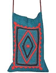 Sadna Women's 3 Litres Messenger Bag (Multi-Coloured)