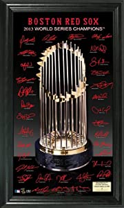Boston Red Sox 2013 World Series Champions Trophy Signature Photo by Highland Mint