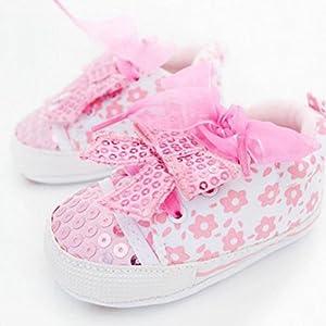 Froomer Zapatos Rosas De Lona Lentejuelas Bowknot Para Niña Linda Zapato Infantil Preandador por Froomer - BebeHogar.com