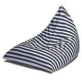 Jaxx Twist Outdoor Bean Bag Chair, Navy Stripes