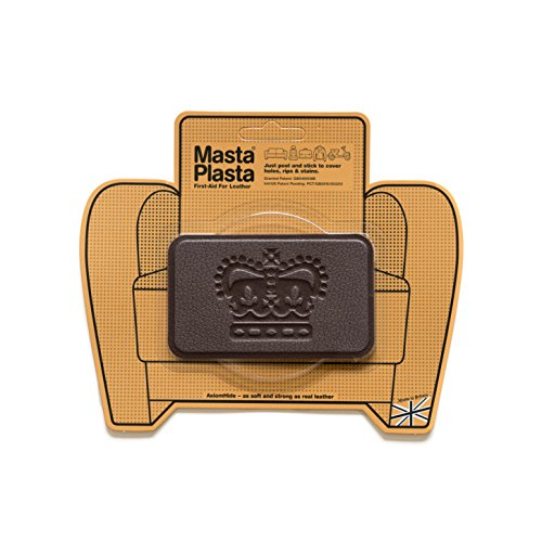 Match N Patch Realistic Dark Brown Leather Tape