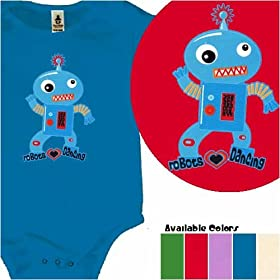 Robots Love Dancing organic cotton one-piece