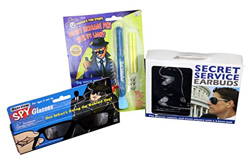 Kids-Top-Secret-Spy-Kit-Starter-Edition-3-Pieces-Includes-Rear-View-Vision-Glasses-Secret-Service-Ear-Pieces-and-Secret-Message-UV-Pen
