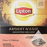 Lipton Thé vert argent d'Asie 20 sachets - Lot de 3