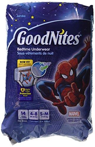 GoodNites Bedtime Underwear Marvel Boys S/M 14 CT (Pack of 4) - 1